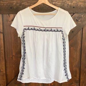 LOFT Tops - LOFT Factory Short Sleeves Tunic Size M